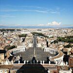 Pogled sa bazilike sv petra u vatikanu Rim travelina