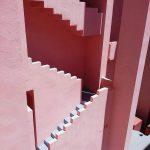 muralla roja roza kaskadna fasada