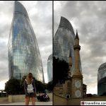 Flame towers azerbajdžan travelina