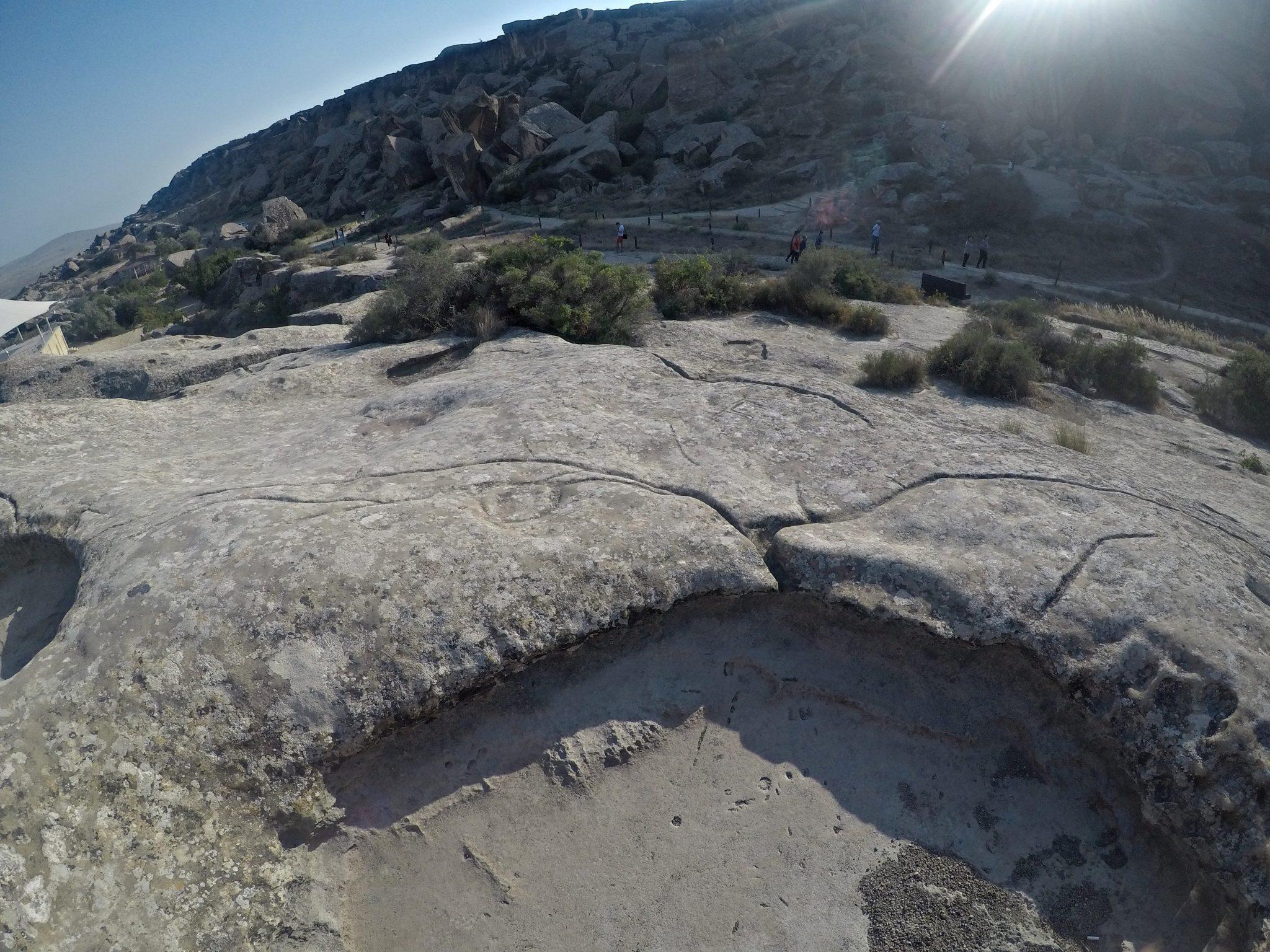 Neaktivan blatni vulkan azerbajdžan travelina