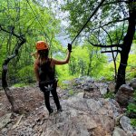 Pogled sa trece zice Zipline u hrvatskoj
