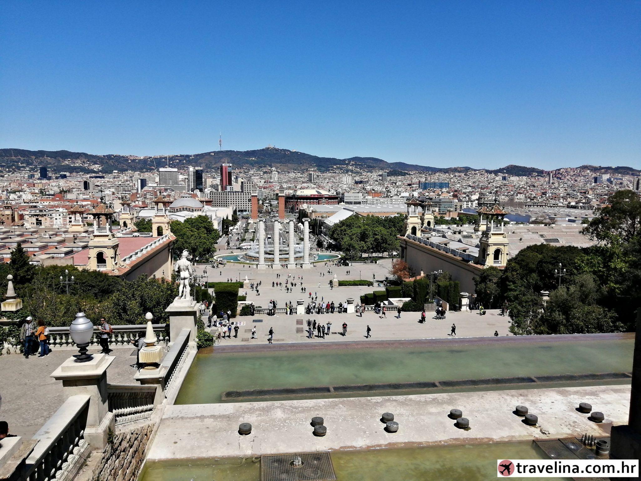 Montjuïc pogled vikend u barceloni