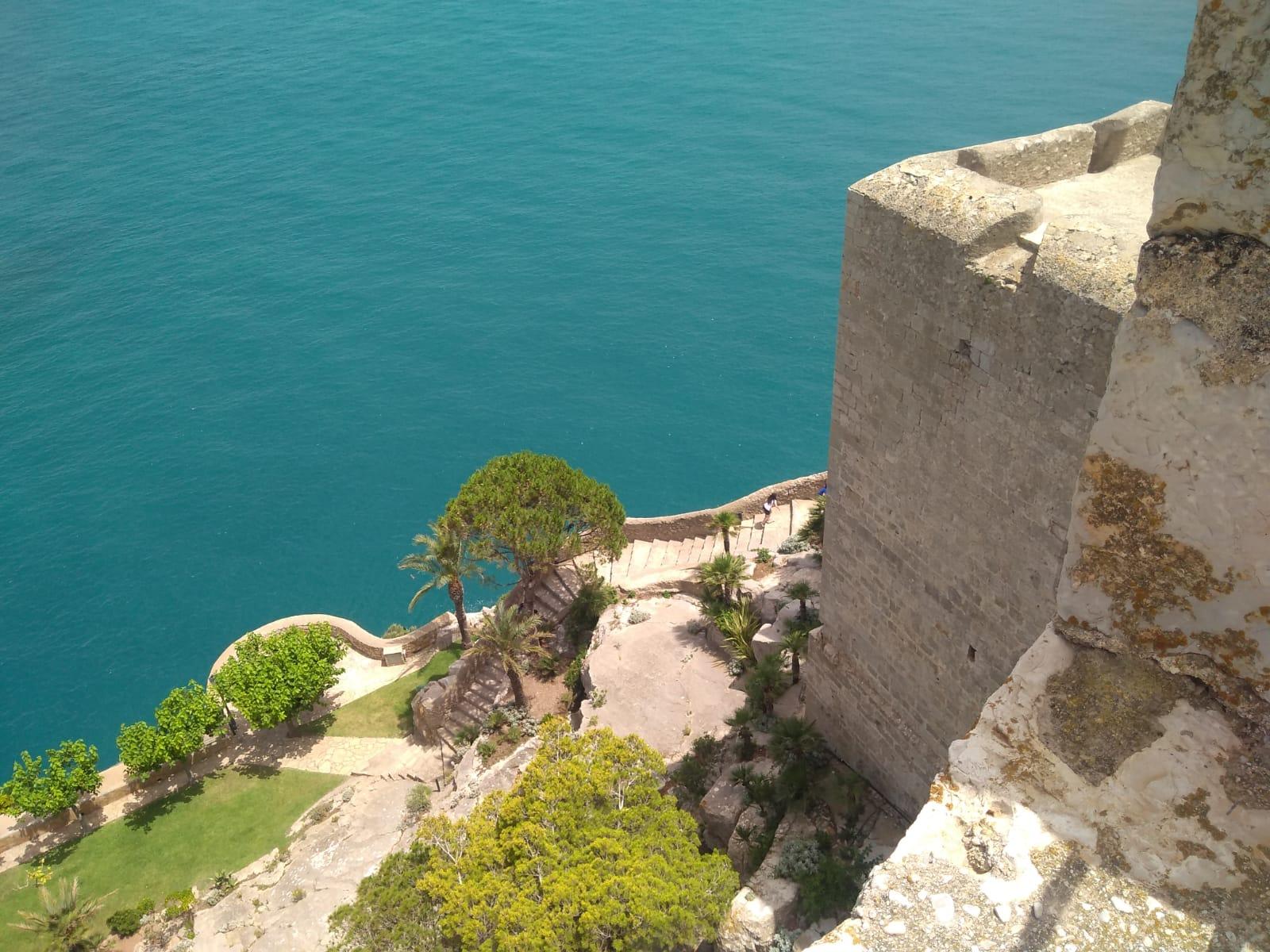 Pogled sa dvorca Peñíscola (Španjolska)