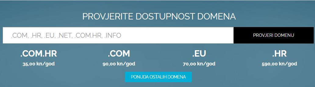 domena započeti blog - izrada web stranice
