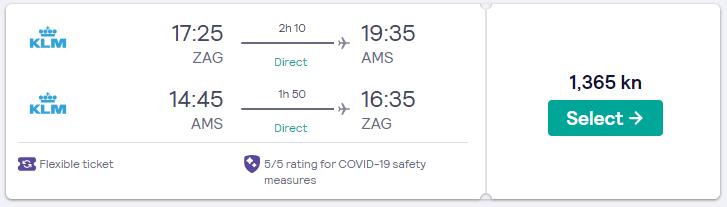 Zagreb - Amsterdam 30.12. do 2.1. Nova Godina 2021