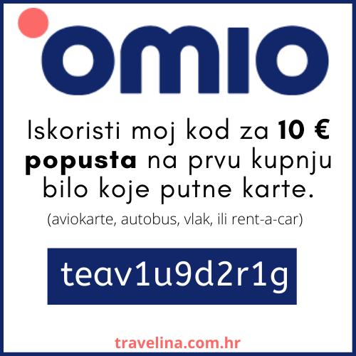 Iskoristi moj link za 10 € popusta na prvu kupnju bilo koje karte. omio popust