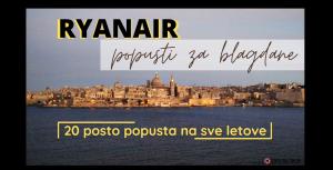 Ryanair popust za blagdane – 20 posto na sve letove
