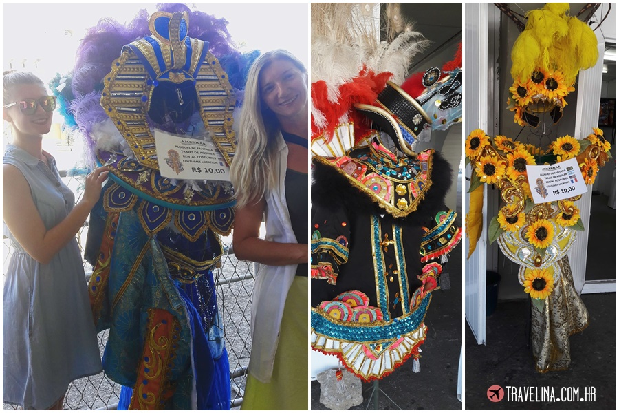a Samba najam kostima na Sambadromu
