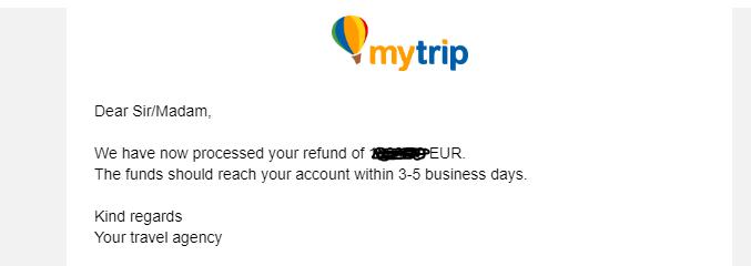 mytrip agencija povrat novca za putovanje zbog korone