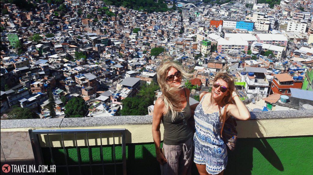 Na vrhu favele Rochine - Rio de Janeiro
