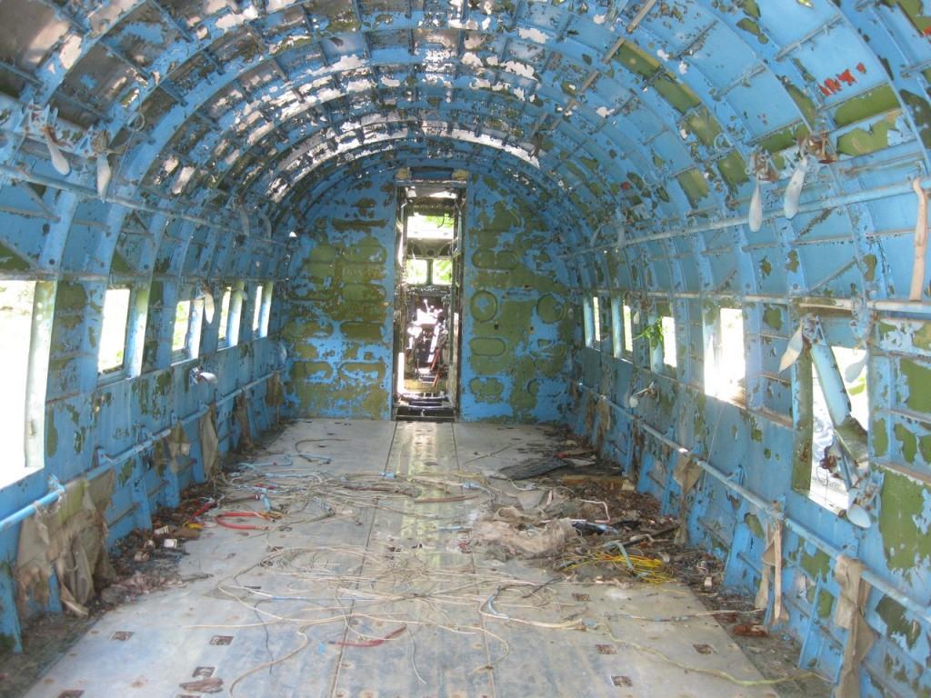 Unutrašnjost Douglas C-47 prije nekoliko godina. Avion je vidno očuvaniji u odnosu na današnju verziju. @jimblog
